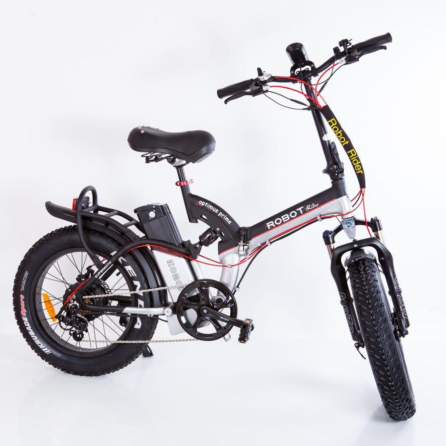 להפליא אופניים חשמליים דגם רובוט פאט שיכוך מלא   wheeltech WR-96